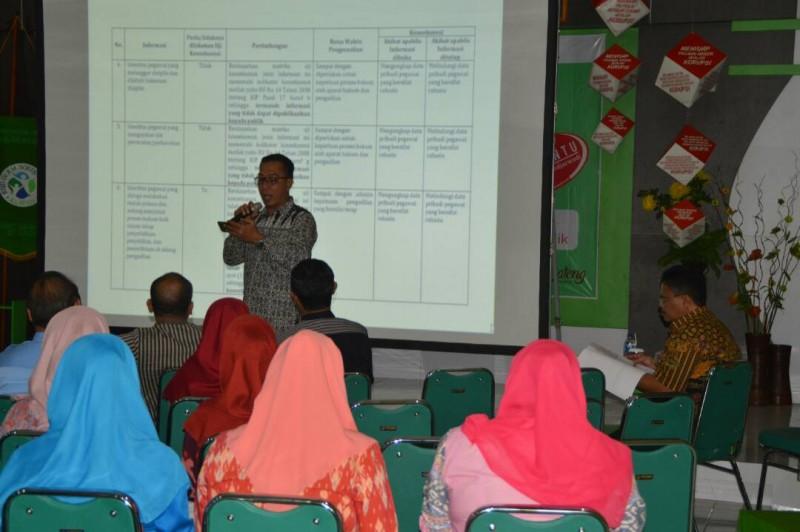 Uji Konsekuensi bersama Ketua Komisi Informasi Provinsi Jawa Tengah dan Praktisi Keterbukaan Informasi Publik
